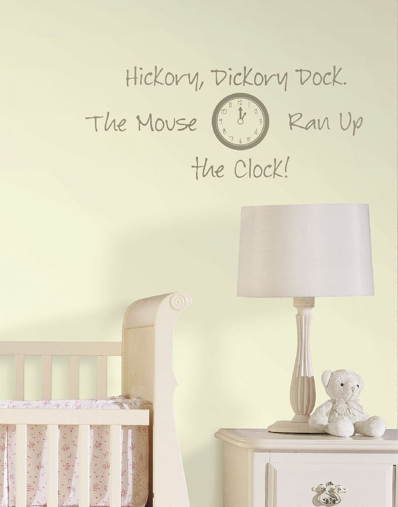 Hickory Dickory Dock - Nursery Rhymes Wall Art Sticker Kit